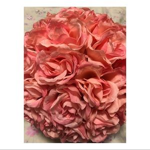 Accents - Pink Faux Flower Pomander Ball